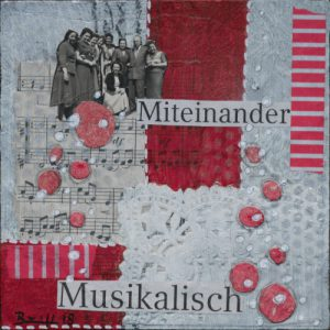 "Mixed-Media-Collage ""Ohne Noten (2)"""