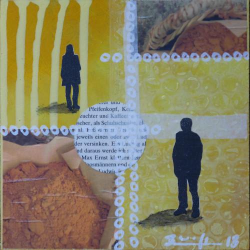 """Collage """"Wer bist du (gelb)"""""""