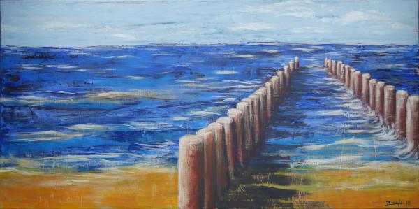 """Am Strand (1)"" - Acryl auf Leinwand"