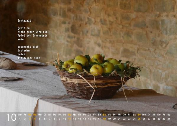 Kalender 2020: Oktober