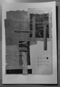 Collage-Experiment (1), Schwarz-Weiß-Ansicht
