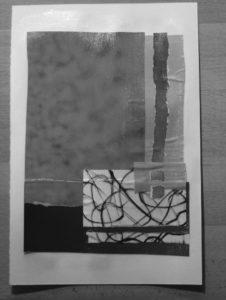Collage-Experiment (2), Schwarz-Weiß-Ansicht
