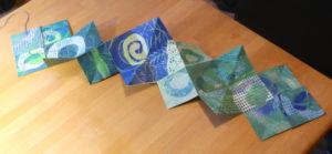 Lotus-Fold-Book aus Gelatine-Drucken