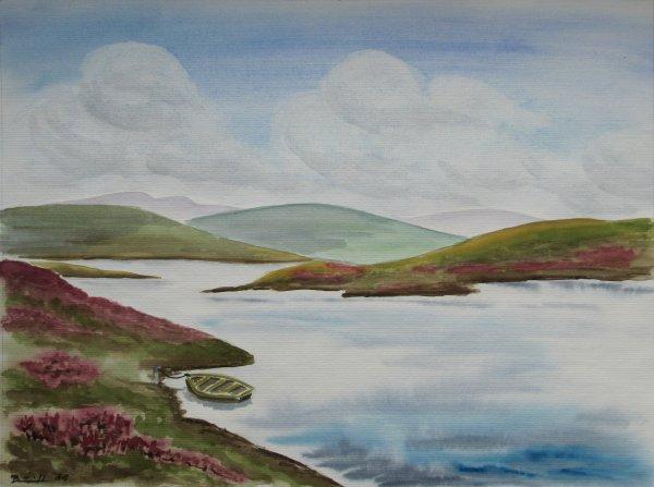 """Aquarell: """"Loch Loyal (SCO)"""""""