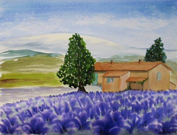 "Aquarell: ""Provence (F)"""