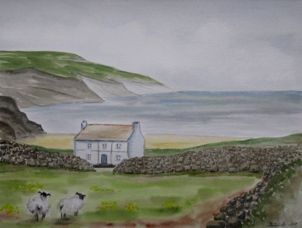 "Aquarell: ""Achill Island (IRL)"""