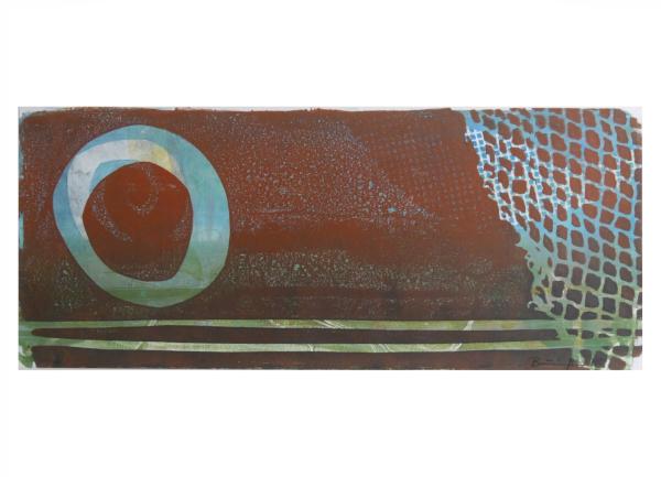 """Gelatinedruck: """"Landschaft (1)"""", Gelli-Print"""