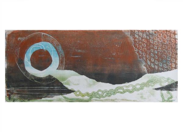 """Gelatinedruck: """"Landschaft (2)"""", Gelli-Print"""