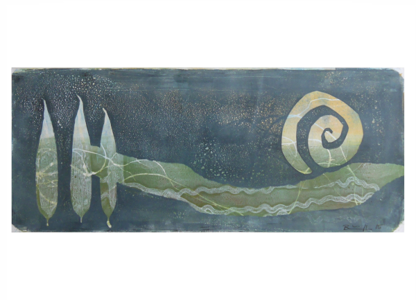 """Gelatinedruck: """"Landschaft (3)"""", Gelli-Print"""