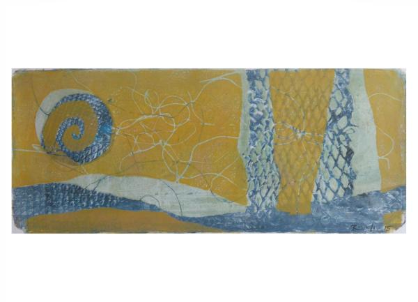 """Gelatinedruck: """"Landschaft (4)"""", Gelli-Print"""