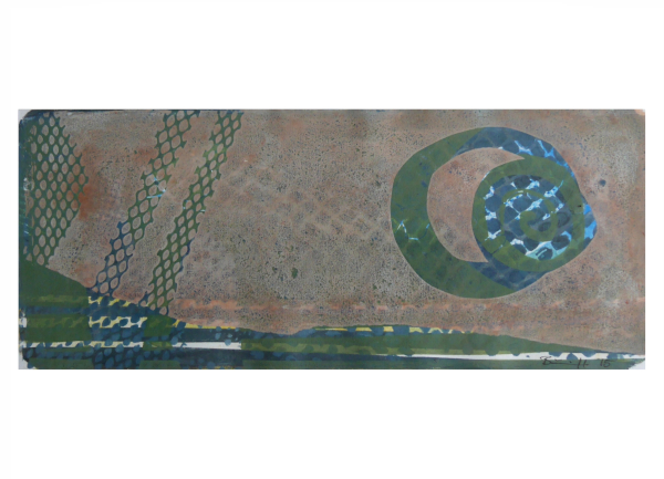 """Gelatinedruck: """"Landschaft (5)"""", Gelli-Print"""