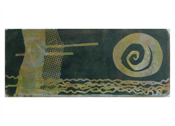 """Gelatinedruck: """"Landschaft (6)"""", Gelli-Print"""