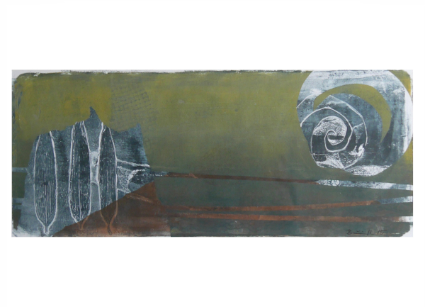 """Gelatinedruck: """"Landschaft (7)"""", Gelli-Print"""