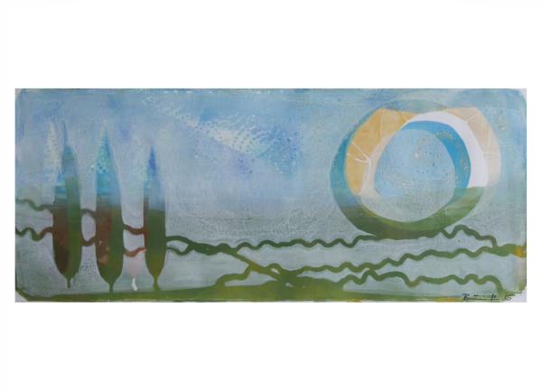 """Gelatinedruck: """"Landschaft (9)"""", Gelli-Print"""