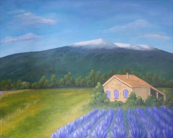 """Bild: """"Am Mont Ventoux"""""""