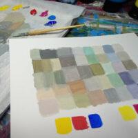 Neutrale Farben mischen