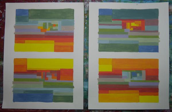Experiment mit warmen und kühlen Farben