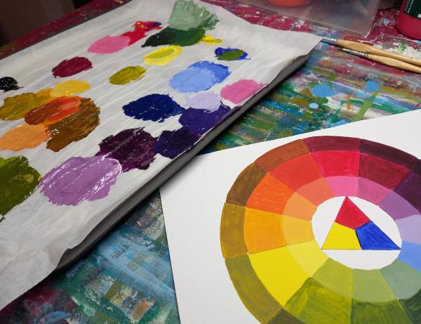 Malen eines Farbkreises